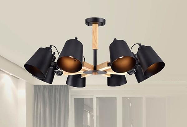 【燈王的店】風格系列 木製品 半吸頂 8燈 F0363300512