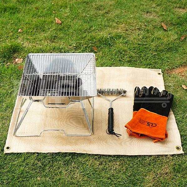【韓國CLS】小號 戶外野營防火布 野炊燒烤隔熱墊 阻燃耐高溫滅火毯 玻璃纖維阻燃布