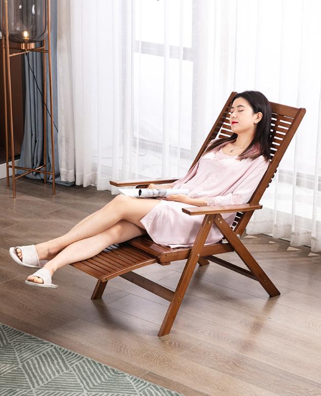 躺椅 折疊椅 陽臺家用休閑椅 竹靠背椅 辦公室午休椅 懶人椅 午睡床椅 便攜涼椅 椅子