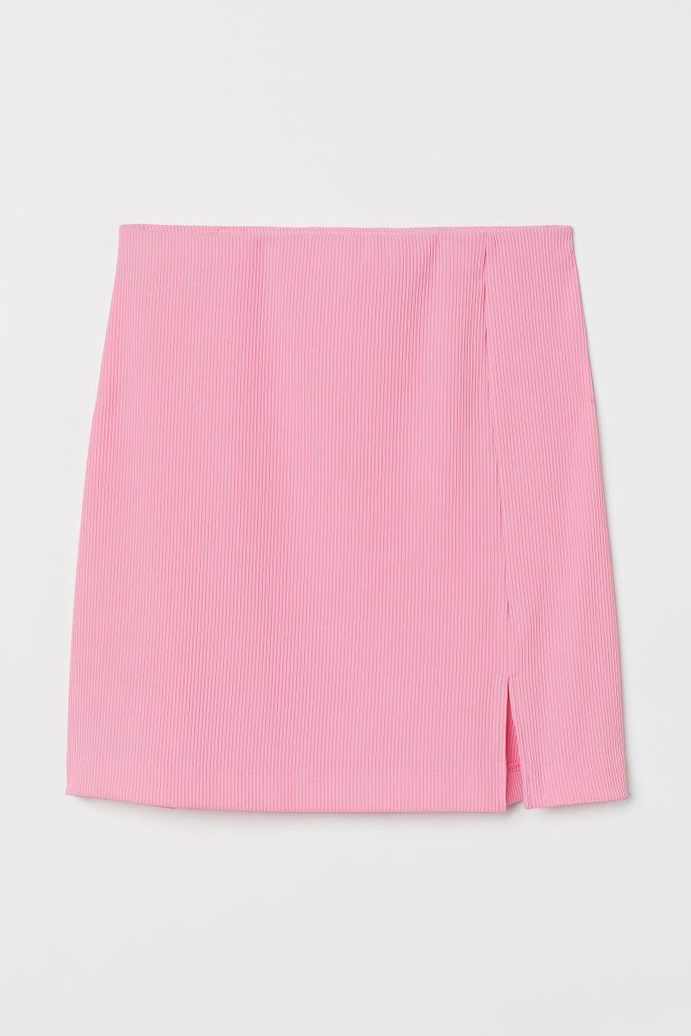 H & M - 合身平紋裙 - 粉紅色