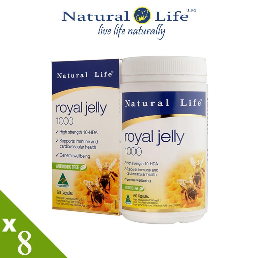 澳洲Natural Life 頂級蜂王漿8入組(60顆x8瓶)