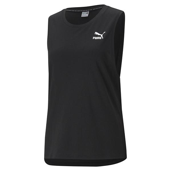 PUMA Classics 女裝 背心 寬版 棉質 休閒 健身 訓練 黑 歐規【運動世界】53085001