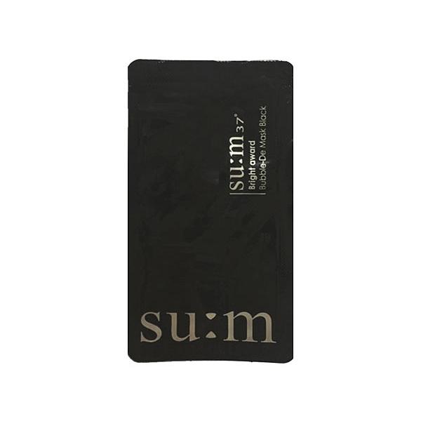 韓國 su:m 37 呼吸泡沫面膜(黑色)3ml【小三美日】