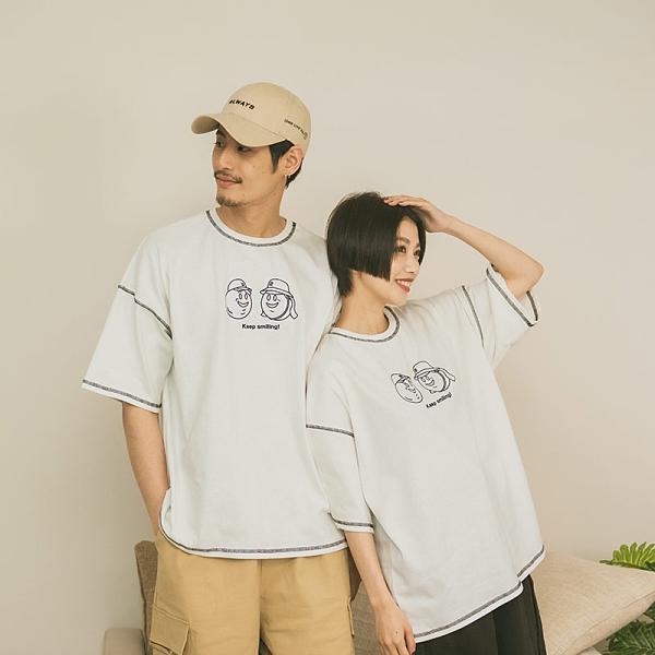 Queen Shop【01038819】中分哥 戴上帽子上學去!車線造型上衣1/2*現+預*