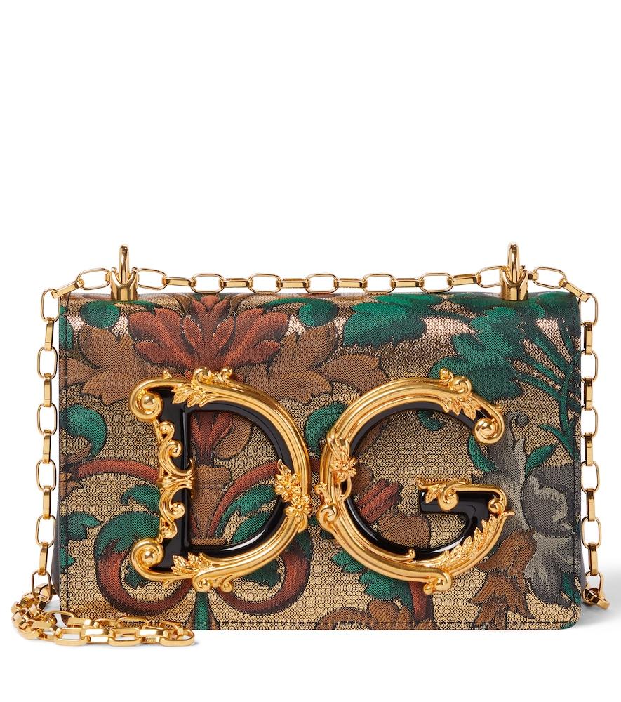 DG Girls brocade shoulder bag