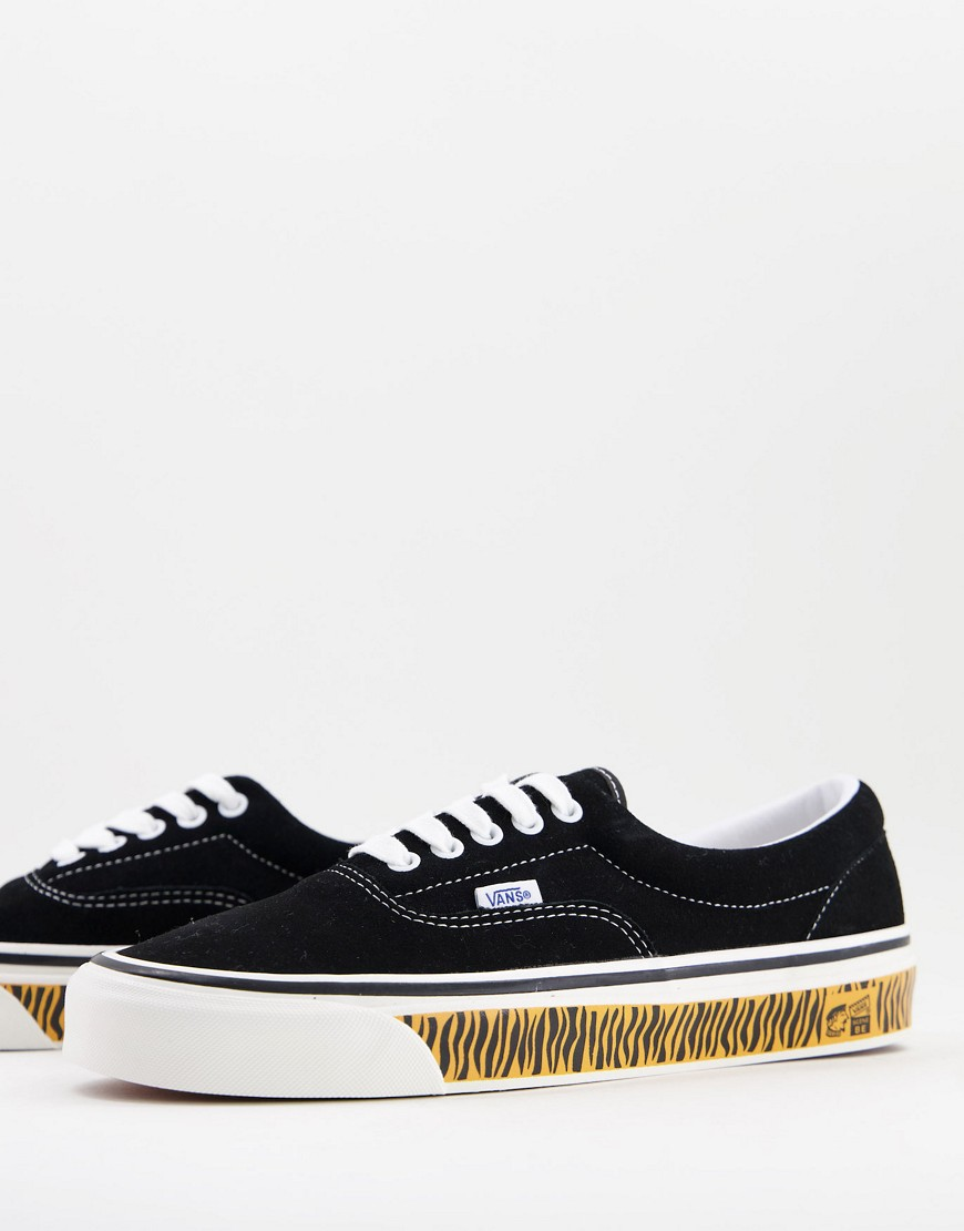 Vans UA Era 95 DX suede trainers in black with tiger tape-Multi