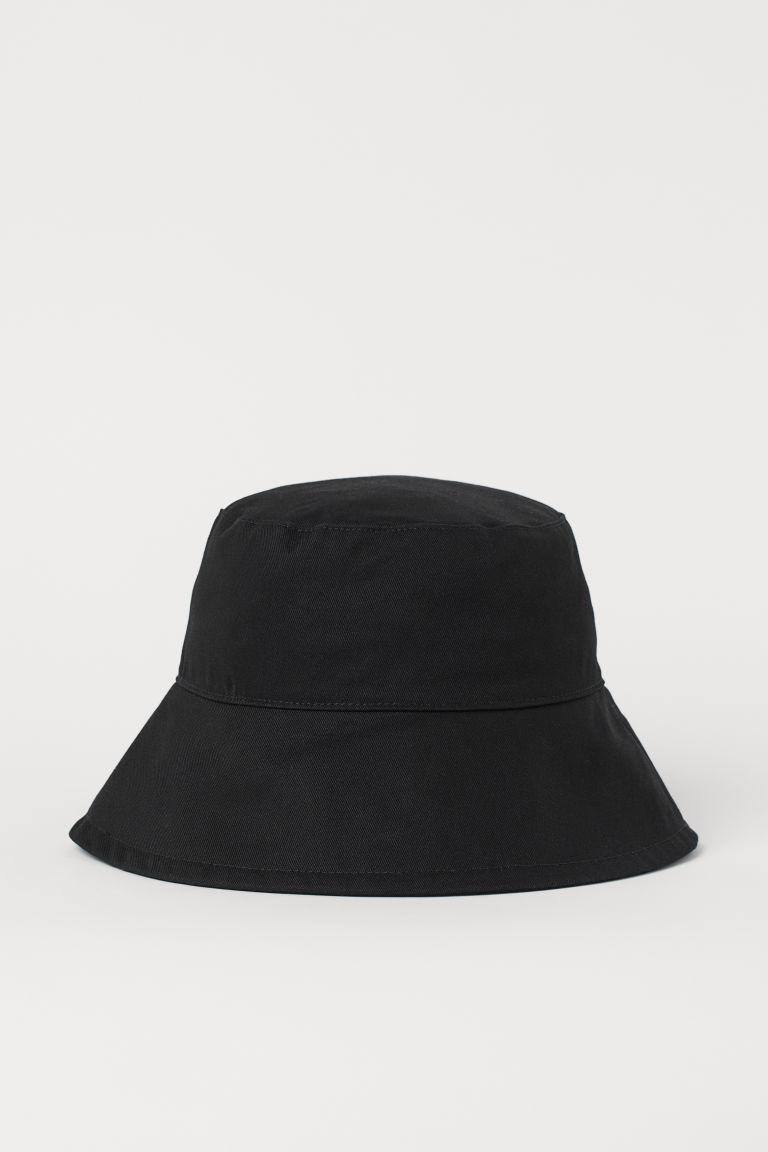 H & M - 棉質漁夫帽 - 黑色