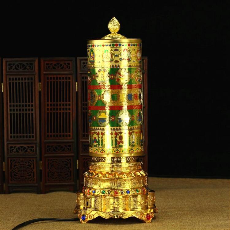 寺廟開光 六字真言觀音心咒電動轉經輪轉經筒 轉經輪 可下載佛曲