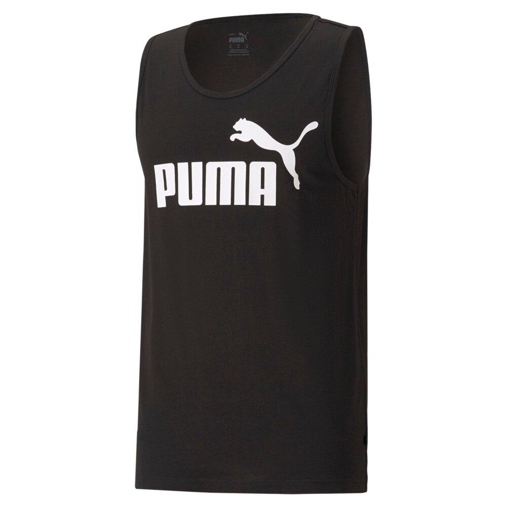 【領券最高折$300】【現貨】PUMA No.1 Logo 男裝 背心 休閒 基本 純棉 歐規 黑 【運動世界】58667001