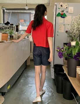 韓國空運 - Raw denim shorts 短褲