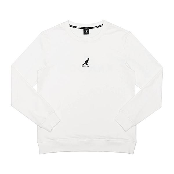 KANGOL 男款白色小LOGO長袖上衣-NO.6055101600