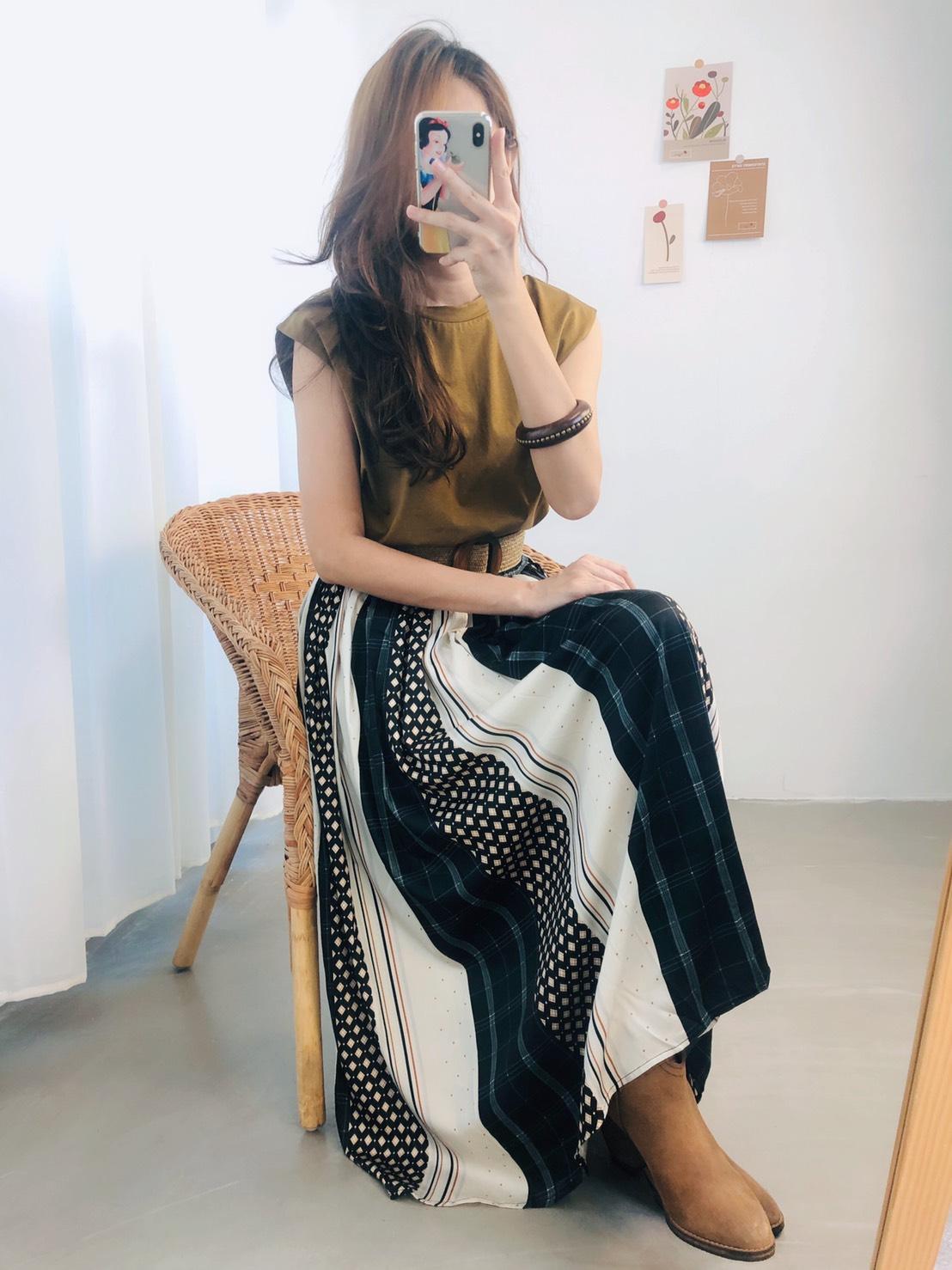 【missy shop】波西米亞花磚長裙-5725791