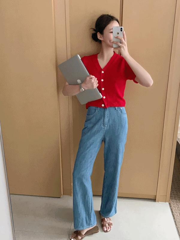 韓國空運 - Middle blue denim 牛仔褲
