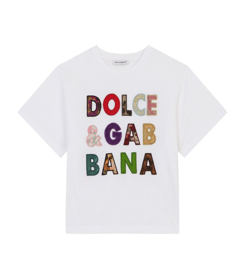 Dolce & Gabbana Kids Patchwork Logo T-Shirt (2-6 Years)