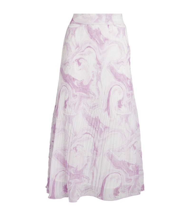 Ganni Pleated Georgette Midi Skirt