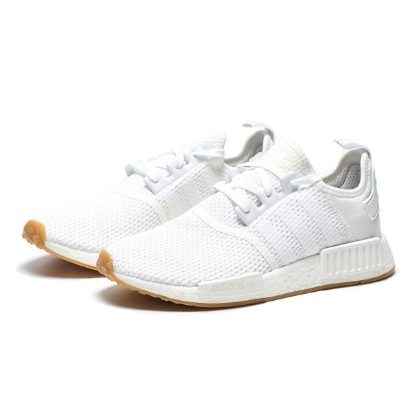 ADIDAS 休閒鞋 NMD R1 全白 焦糖底 運動 慢跑 男女 (布魯克林) D96635
