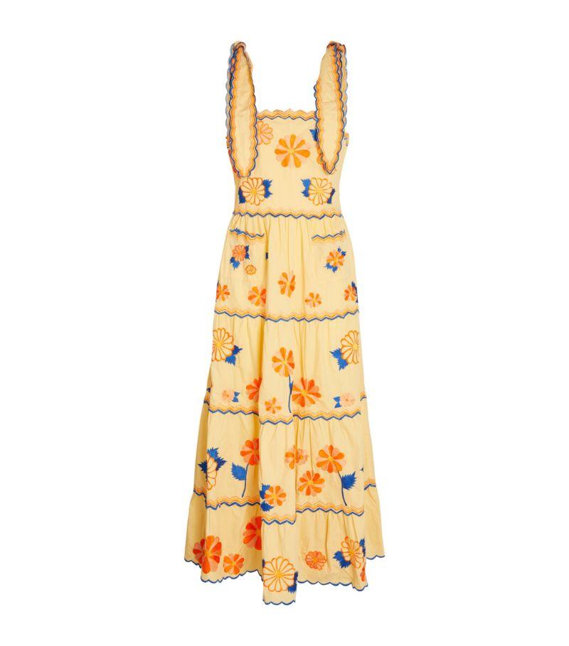 Celia B Floral-Embroidered Belen Dress