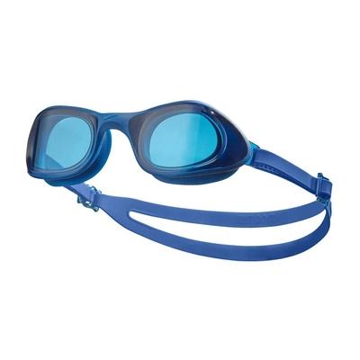 NIKE SWIM 成人超廣角泳鏡-蛙鏡 游泳 戲水 海邊 沙灘 NESSB161-400 藍