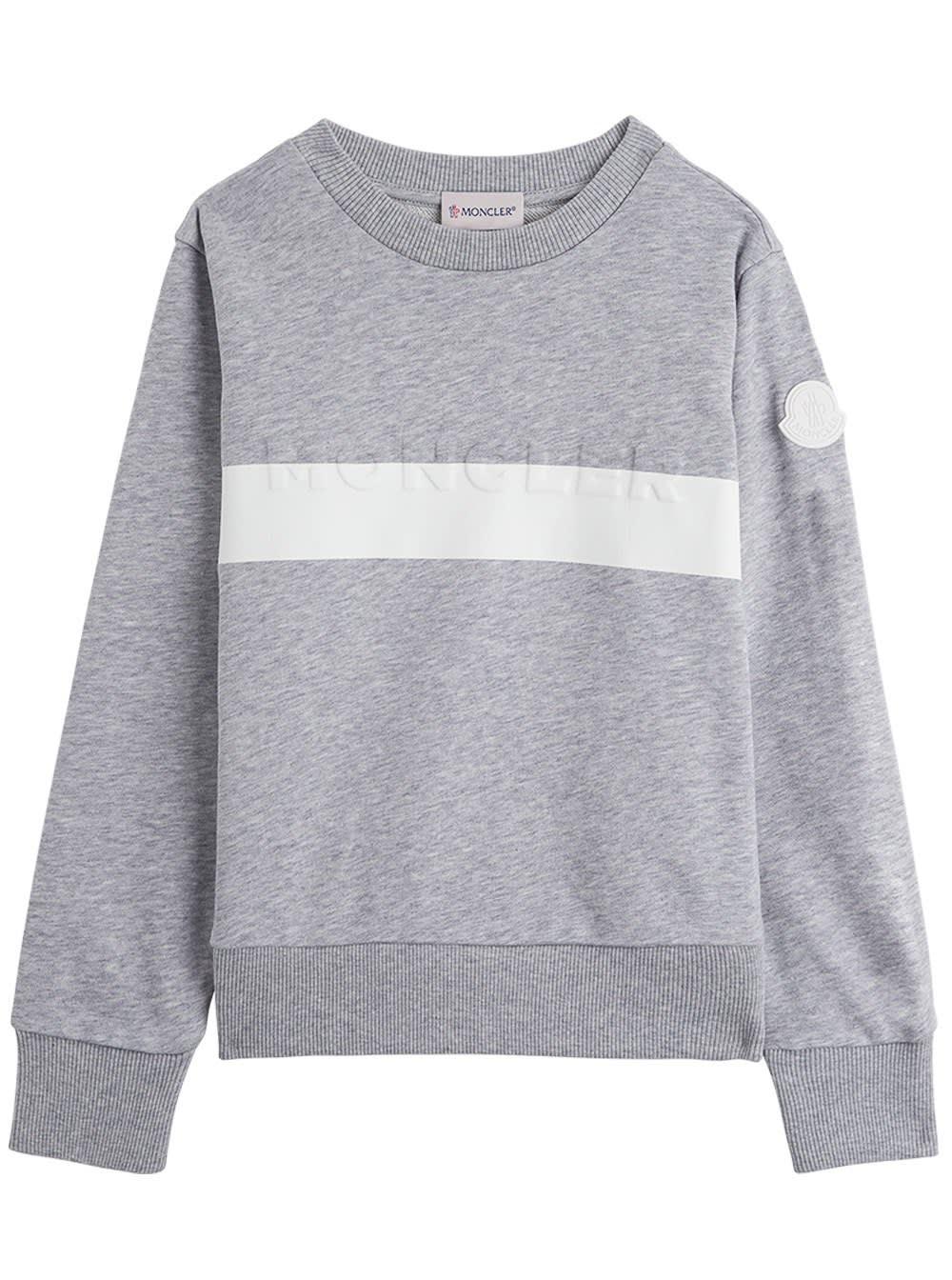 Grey Jersey Sweatshirt With Logo