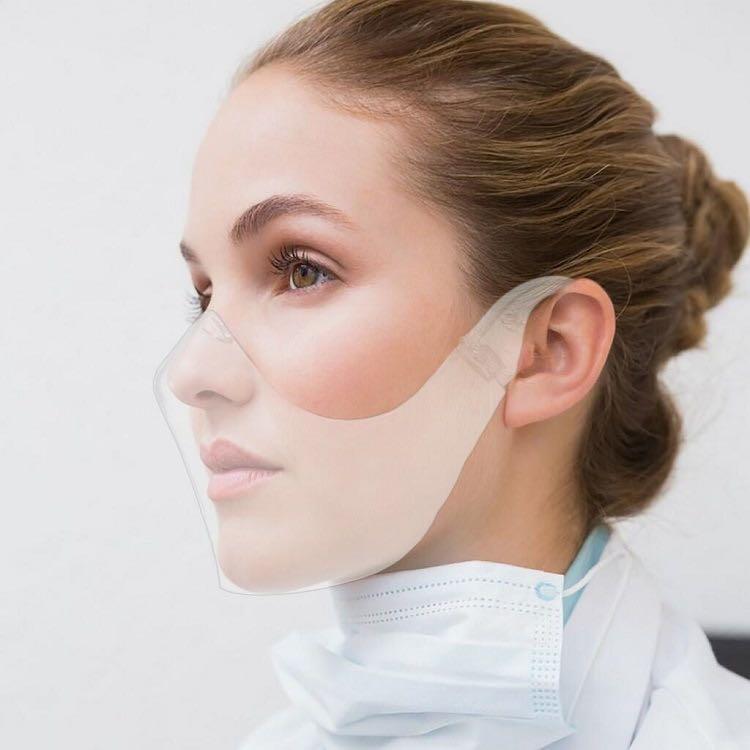塑膠PC防護面罩 2020爆款男女防飛沫防面具 塵防霧女頭戴式面罩