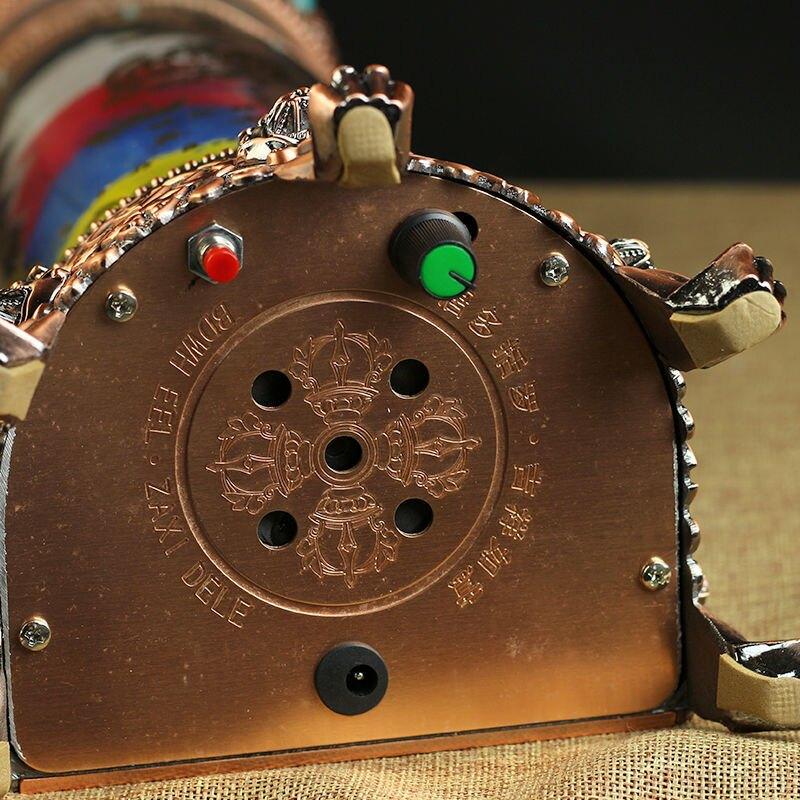 正品 唐多括羅K金五方輪電動轉經輪轉經筒藏傳佛教 帶音樂