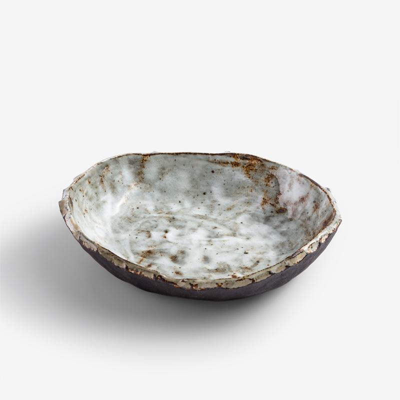 職人 手捻原生 15cm 異邊陶瓷盤︱咖啡︱單品