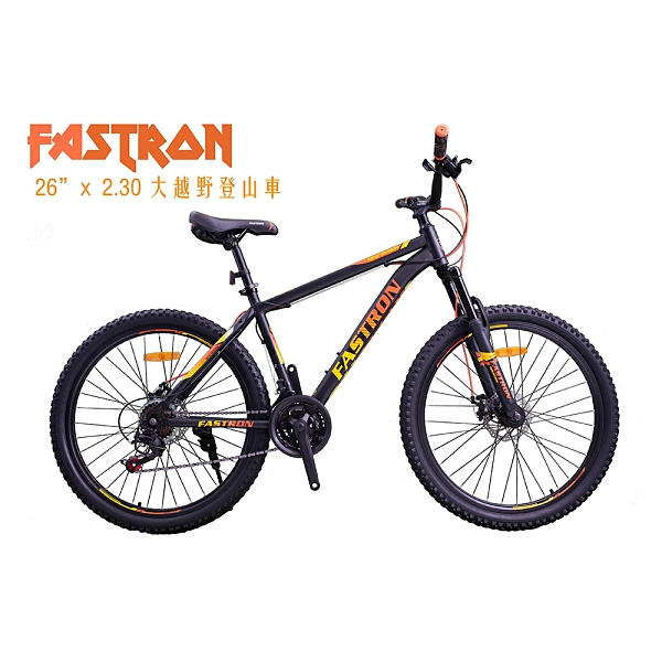 FASTRON GCB230 26吋21速碟煞越野寬輪胎登山車