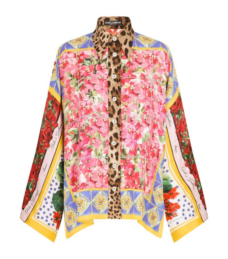 Dolce & Gabbana Silk Patchwork Shirt