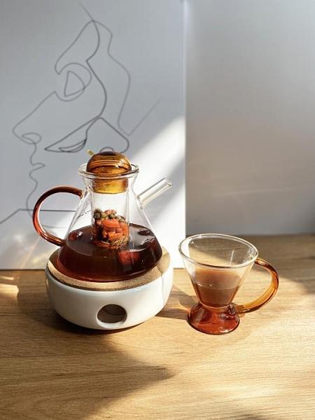丹麥杯 vintage浪漫下午茶壺中古杯網紅ins丹麥迷你耐熱玻璃可加熱煮茶具 印巷家居
