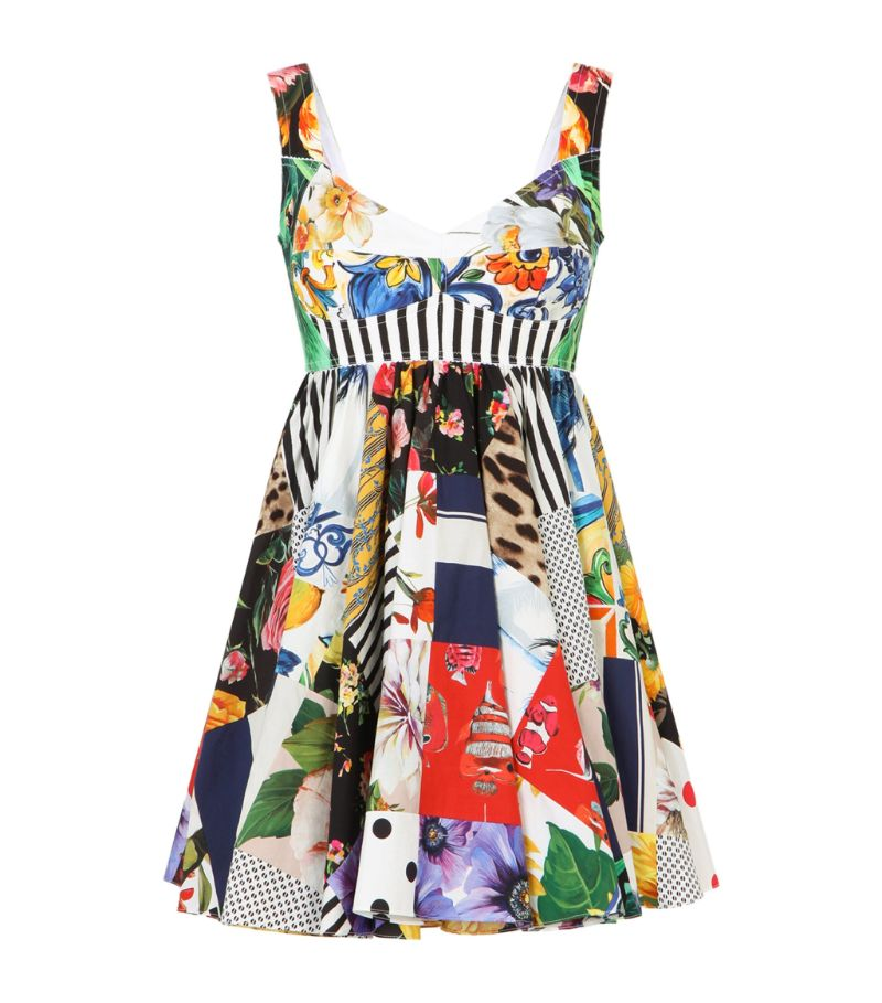 Dolce & Gabbana Patchwork-Pattern Mini Dress