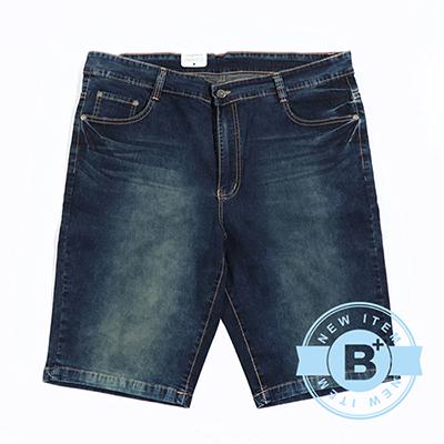 加大尺碼10-0105567牛仔短褲-藍