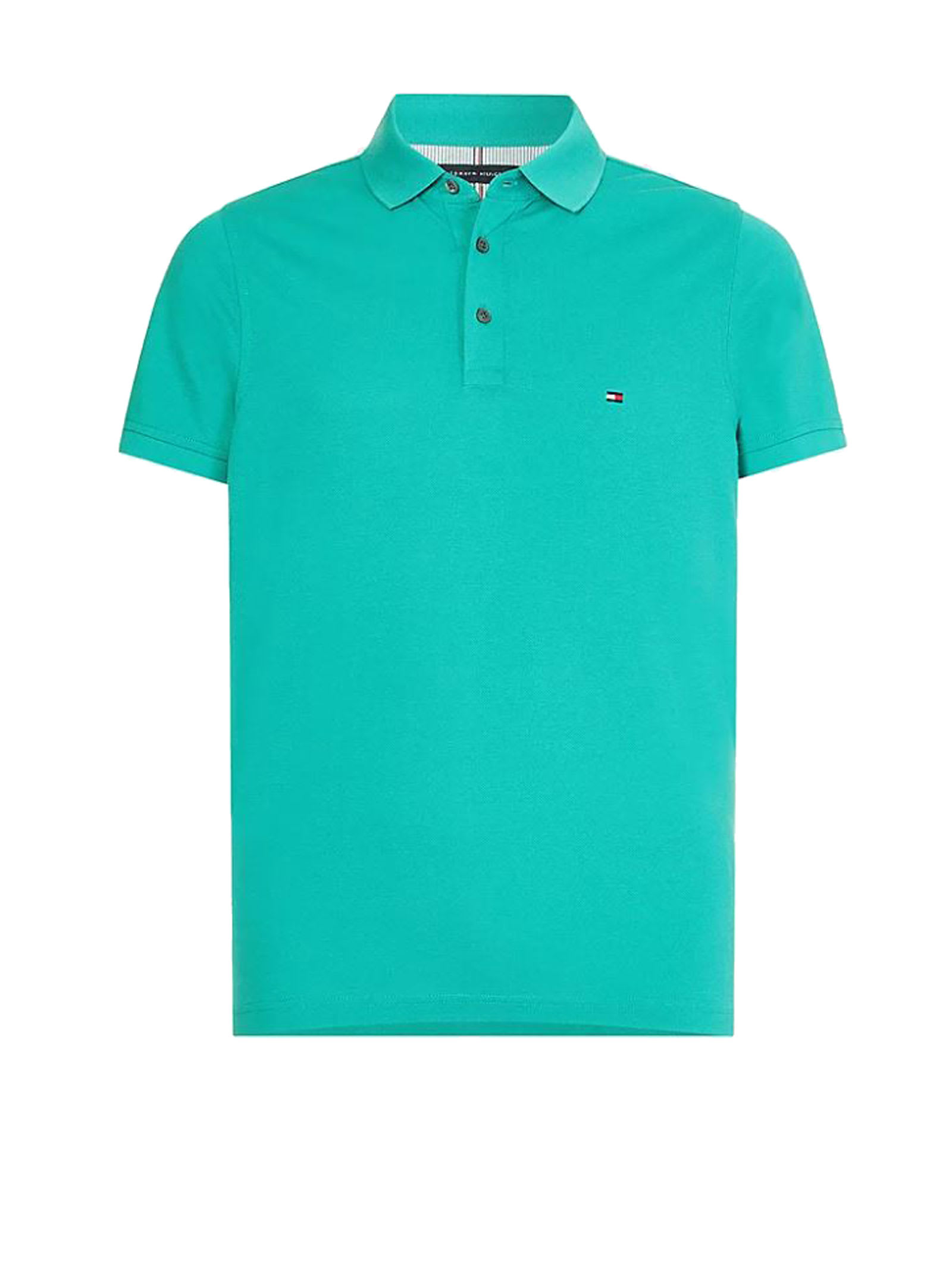Tommy Hilfiger Polo Shirt In Green Cotton