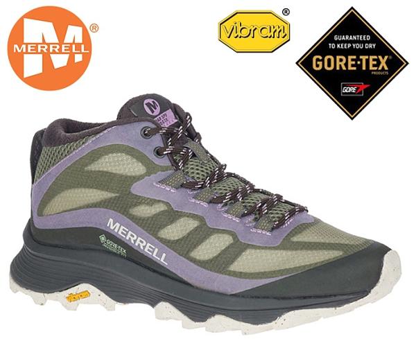 丹大戶外 美國【MERRELL】戶外鞋 MOAB SPEED MID GTX 女鞋 黃金大底 墨綠/紫 ML135416