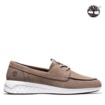 Timberland 女款灰褐色Bradstreet Ultra磨砂革帆船鞋|A2G71