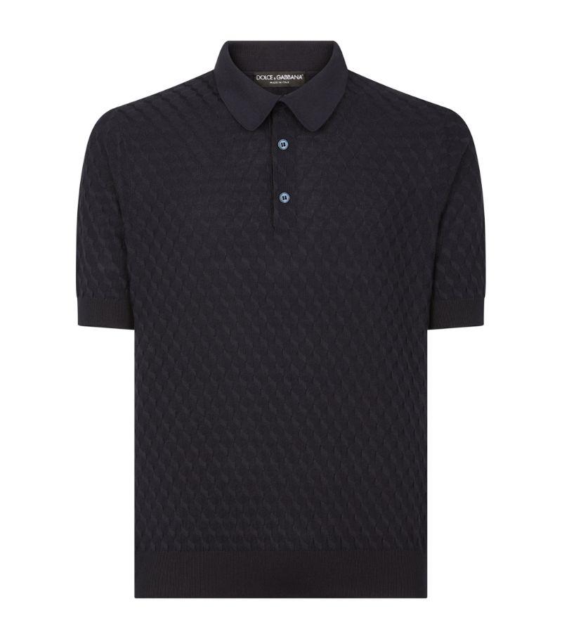 Dolce & Gabbana Silk Polo Shirt