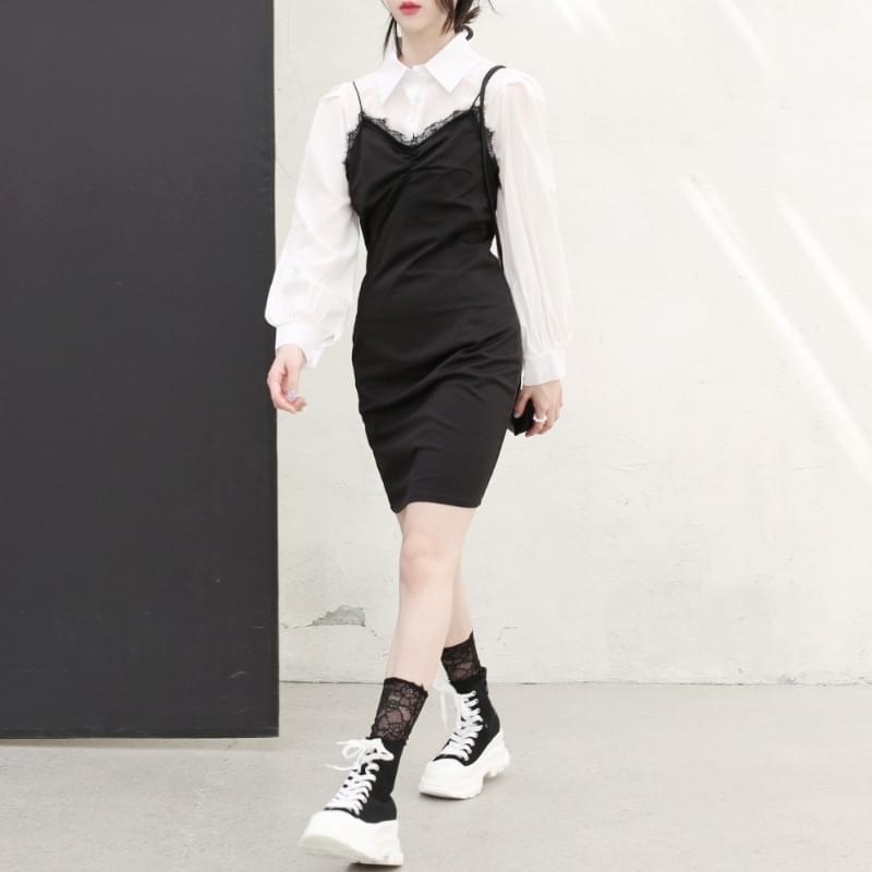 韓國空運 - Wendy blouse two-piece set 套裝