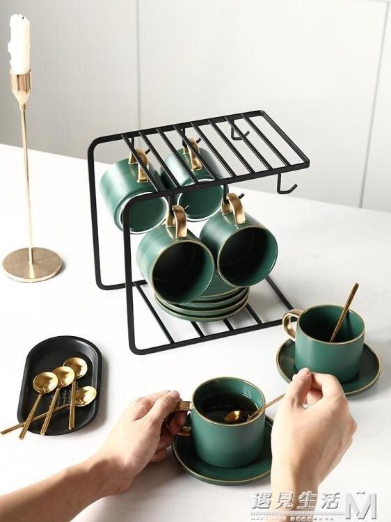 樂天優選 精致咖啡杯套裝歐式小奢華意式輕奢杯子陶瓷家用下午茶茶具ins風