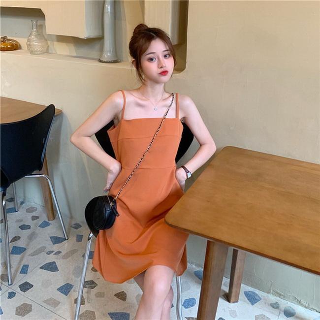 FOFU-小黑裙內搭吊帶裙夏短版赫本風顯瘦連【08SG06889】