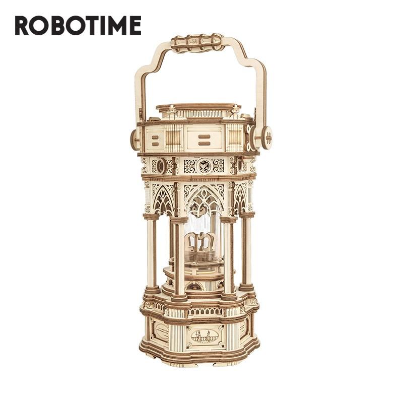 Robotime 若態 維多利亞提燈 DIY 音樂盒八音盒 木質拼圖模型 生日禮物 AMK61