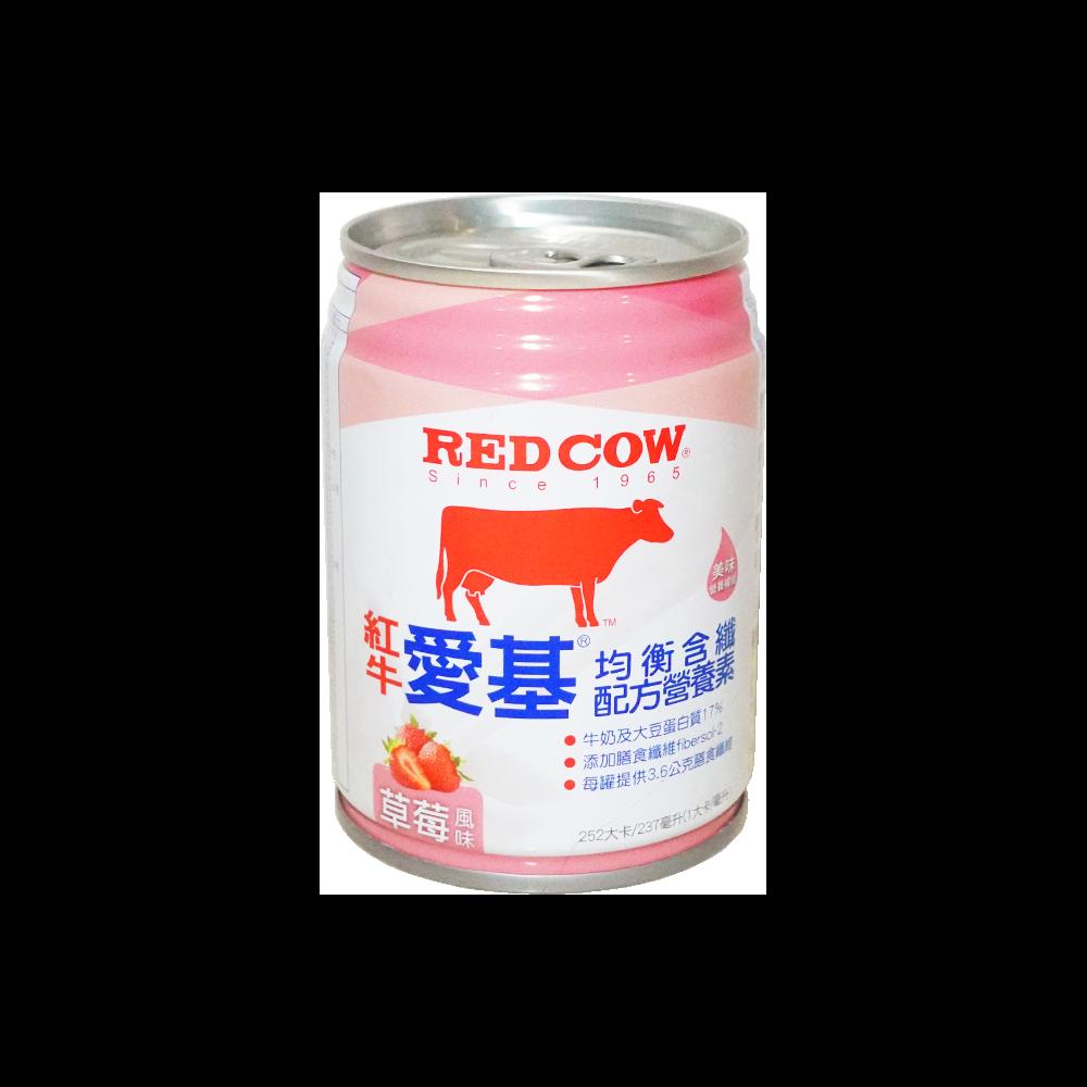 """""""健康之星""""(買二箱送一箱)紅牛愛基均衡含纖配方營養素-新口味草莓237MLX24罐"""