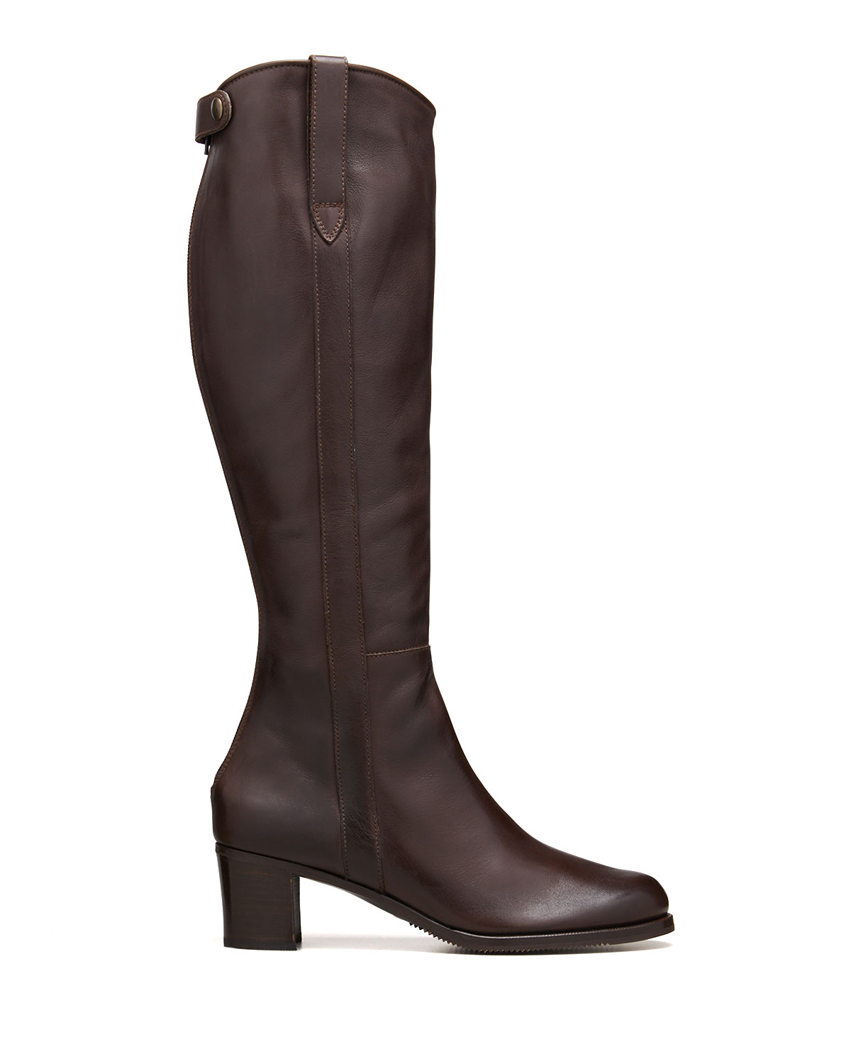 Leather Zip Knee Boots