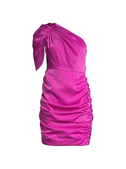 Draped One-Shoulder Dress