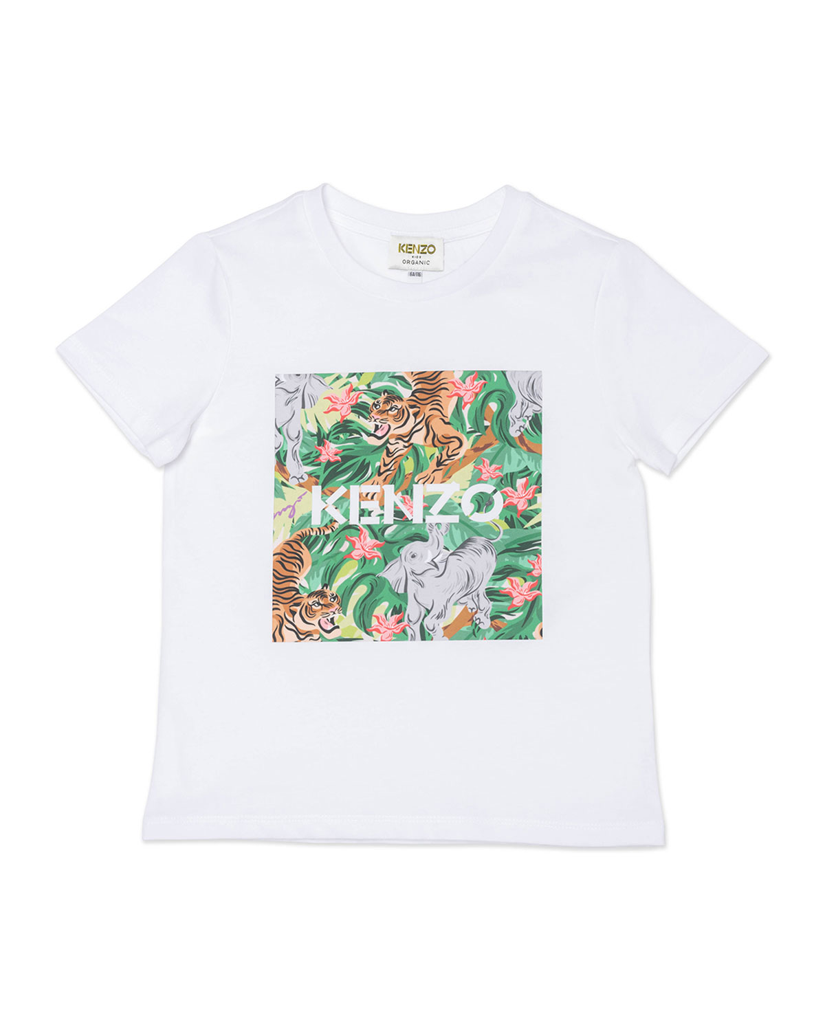 Girl's Jungle-Printed Jersey Tee, Size 8-12