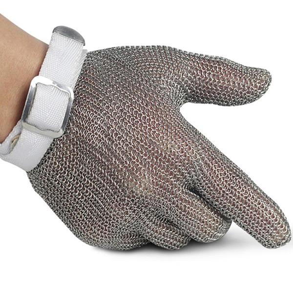 防切割手套 304不銹鋼 鋼絲手套屠宰金屬裁剪防護戰術五指鋼環防割手套防切割
