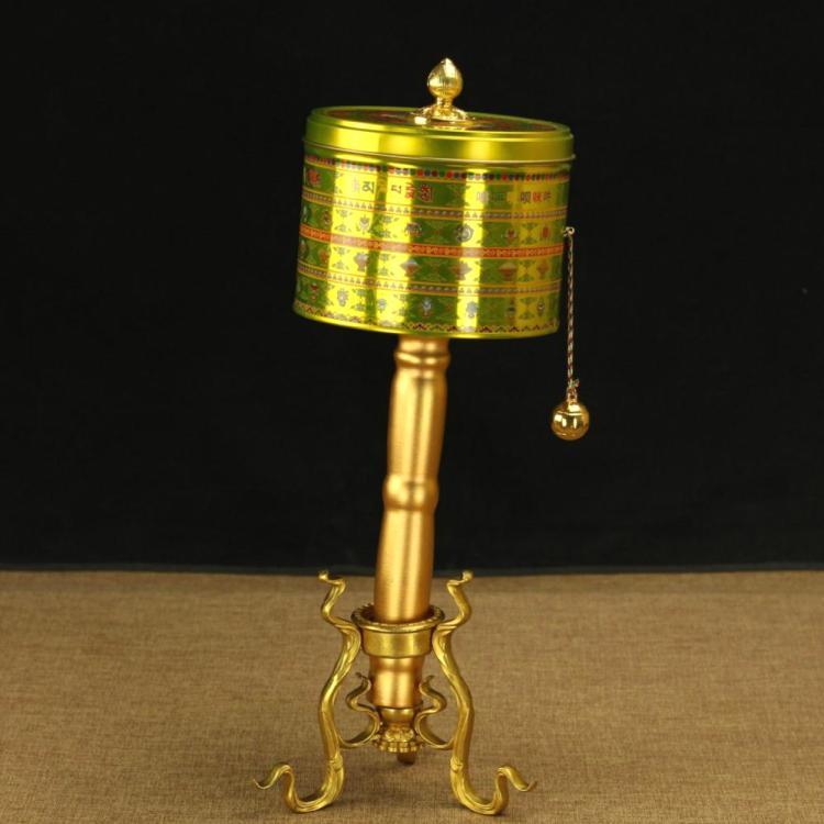 藏傳佛教用品 吉祥如意手搖轉經輪轉經輪 積聚功德極樂經筒 60w遍