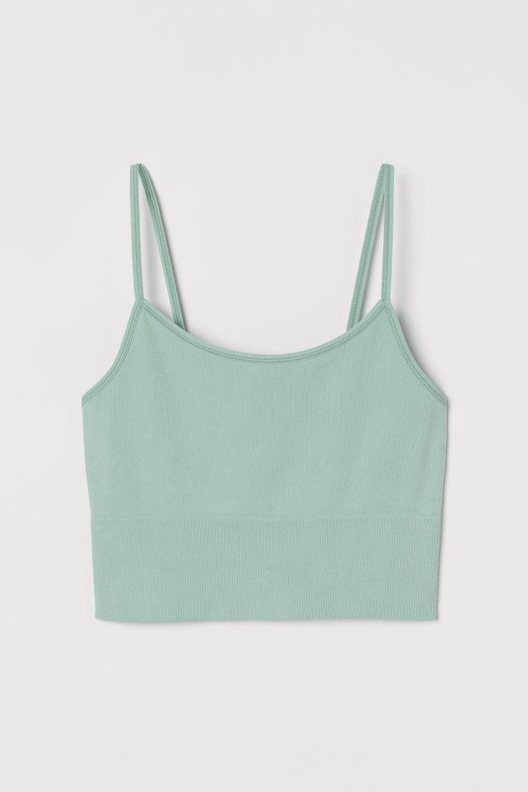 H & M - 無痕運動小可愛內衣 - 藍綠色