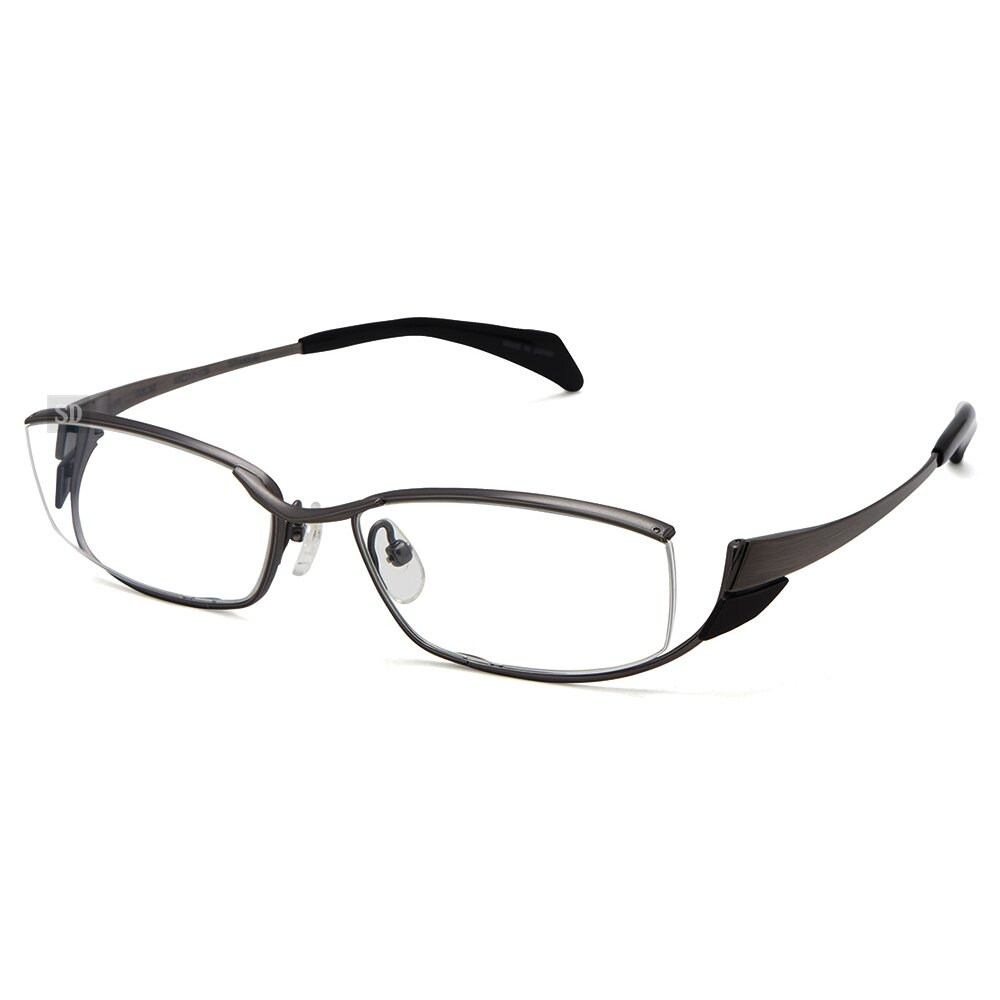 【Japonism】日本製 光學眼鏡鏡框 日本純鈦 JN-665 C02 造型框 長方形鏡框眼鏡 55mm 鐵灰