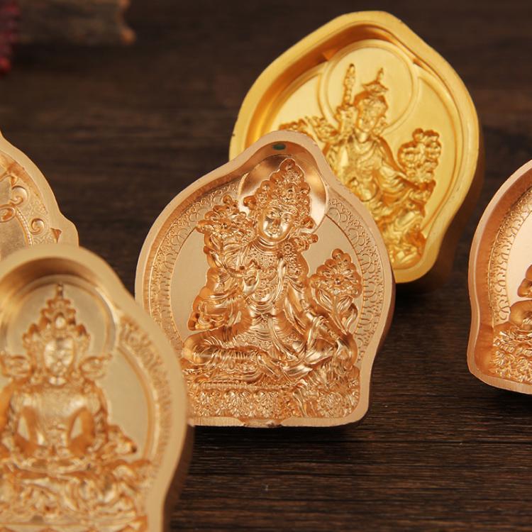 藏傳佛教綠度母黃財神擦擦佛像模具陶土泥佛泥擦擦水擦擦供奉大號
