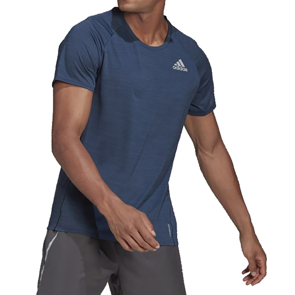 ADIDAS ADI RUNNER TEE 藍 男 慢跑 訓練 透氣 反光細節 短袖 上衣 GJ9887