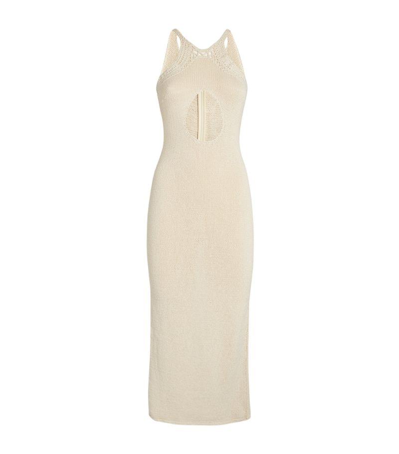 Magda Butrym Woven Cut-Out Midi Dress
